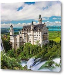 Постер Сказочный замок в Баварии