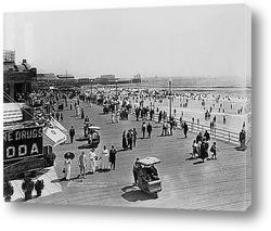 Купающиеся на пляже,Атлантик-Сити,1915г.