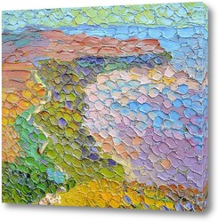 Картина Розовый берег моря.