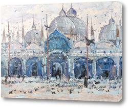 Картина Голуби на площади.