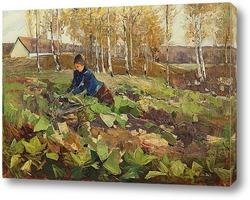 Постер Фермер в поле