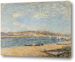 Аллея тополей на окраине Море-сюр-Луан
