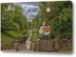 Постер Санкт-Петербупг, Пушкин (Царское село), Китайский мостик