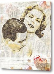 Картина Ретро поцелуй