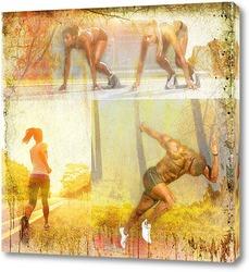 Картина Спортивный бег