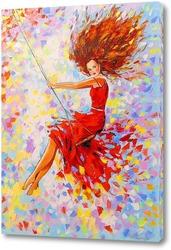 Постер Девушка на качели