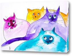 Постер Задумчивые коты