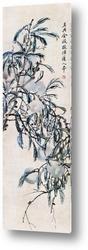 Картина Персик в вертикальном свитке