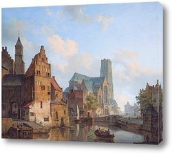 Делфтси Ваарт и Санкт-Лоран-церкви в Роттердаме