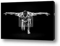 Постер Athletic man posing