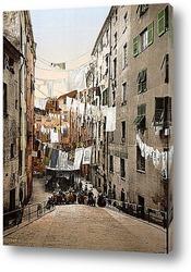 Романтическая  итальянская  улица .Коллаж