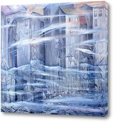 Картина Замерзающий город