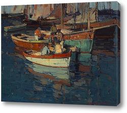 Постер Бретонские рыбаки, Конкарно, Франция