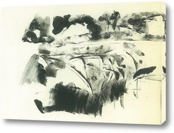Картина пейзаж с оврагами