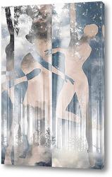 Постер Танец в лесу