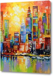 Картина Яркий Нью Йорк