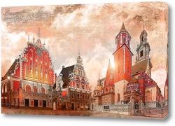 Постер Архитектура Риги