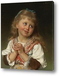 Девочка с корзинкой слив 1875