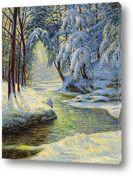 Дорога,зимний пейзаж