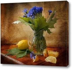 Постер Васильки и лимоны