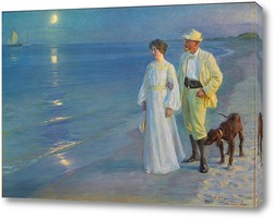 Картина Летний вечер на пляже Скаген - художник и его жена