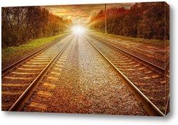 Постер Железные дороги к свету