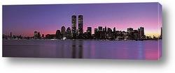 Освещение ночного Нью-Йорка