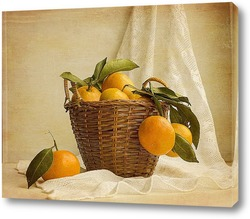 Juicy flavorful pears in basket of nature background