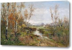 Картина Осенний болотистый пейзаж
