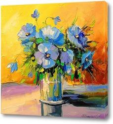 Постер Голубые цветы