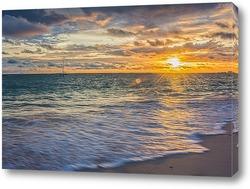 Постер Солнце над Атлантикой