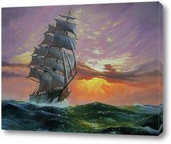 Картина В открытом море.