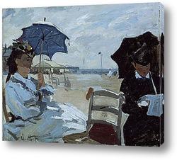 Пляж в Трувиле,1870г.