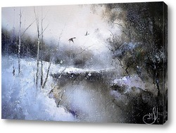 Картина тихо падал снег