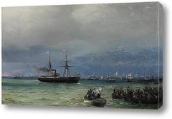 Кораблекрушение.Бурное утро
