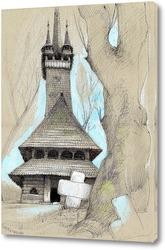 Картина Деревянное зодчество Закарпатья.