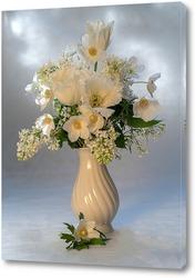 Постер Букет из белых цветов