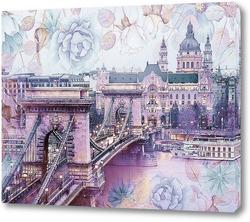 Chain Bridge, Royal Palace and Danube river
