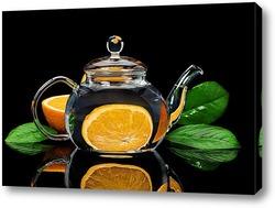 Постер Апельсин в чайнике