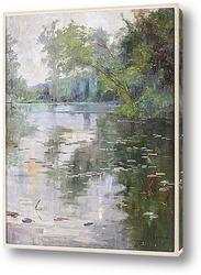 Картина водяные лилии