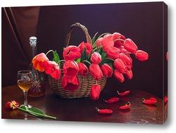Постер Красные тюльпаны