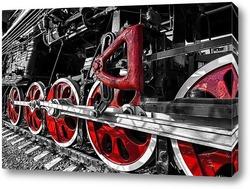 Vintage steam locomotive