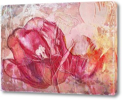 Постер Красный тюльпан
