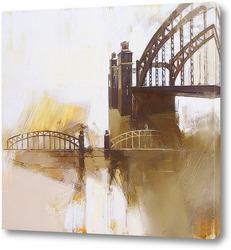 Картина Большеохтинский мост