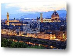 Постер Florence at night, Tuscany, Italy