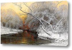 Озеро.Пейзаж осенью