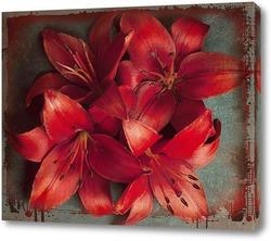 Постер Яркие лилии