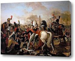 Наполеон ведет армию через мост Лех близ Аугсбурга