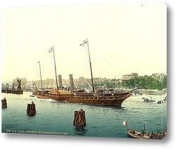 """Постер """"Osborne"""" королевская яхта 1890-1900"""