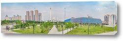 Казахстан. Панорама культурного центра города Астана